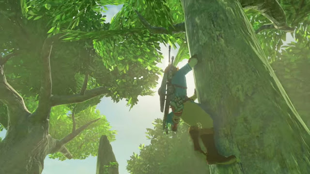 The Legend of Zelda: Breath Of The Wild climbing