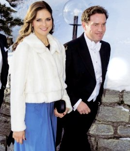 Princess Madeleine and her fiancé Chris O'Neill attended wedding of Caroline Leksell and Graham Cooke in St Moritz