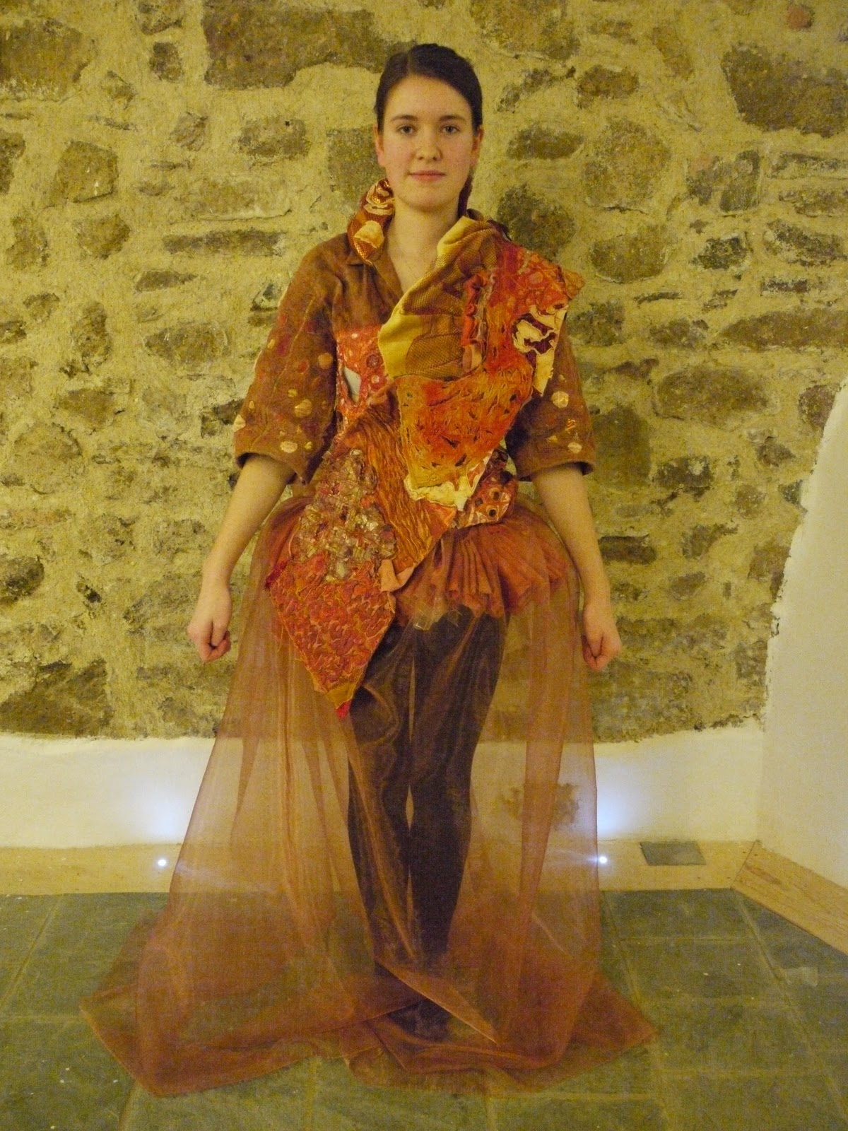 A Level Art And Textiles Textiles Rust Finial Piece