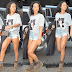 Rihanna puts her hot legs on display as she steps out in NY wearing Hilary Clinton t.shirt