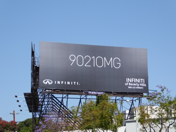 90210MG Infiniti Beverly Hills billboard