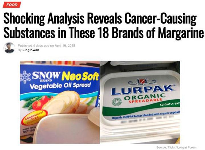Marjerin Penyebab Kanser?
