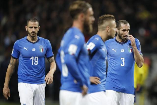 Italia empata a Suecia y se queda fuera del Mundial