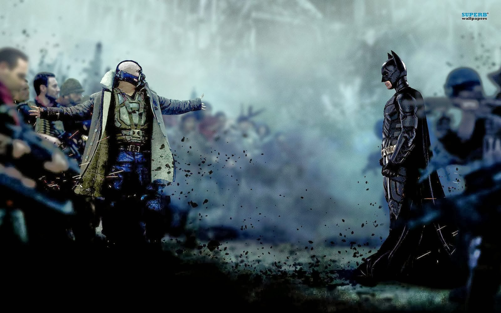 BANE AND BATMAN THE DARK KNIGHT RISES FREE WALLPAPERS - batman hd