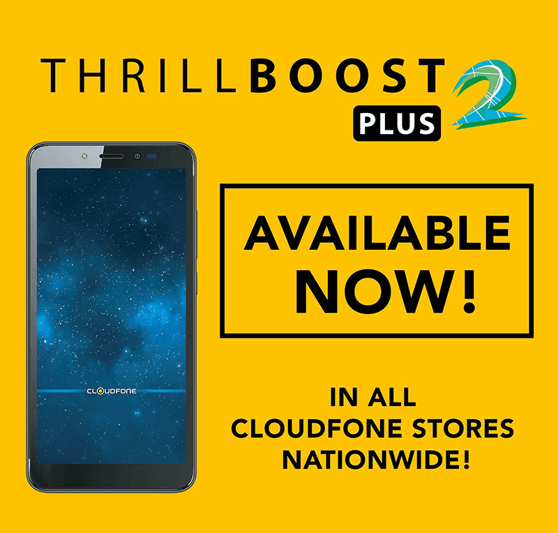 Cloudfone Thrill Boost 2 Plus now official