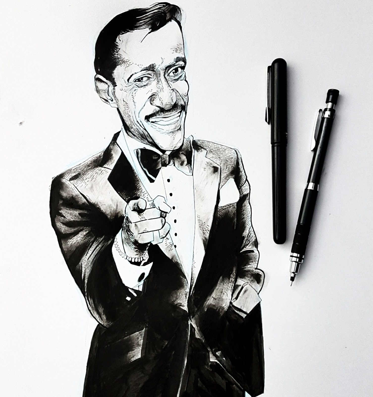 Sammy Davis Jr drawing