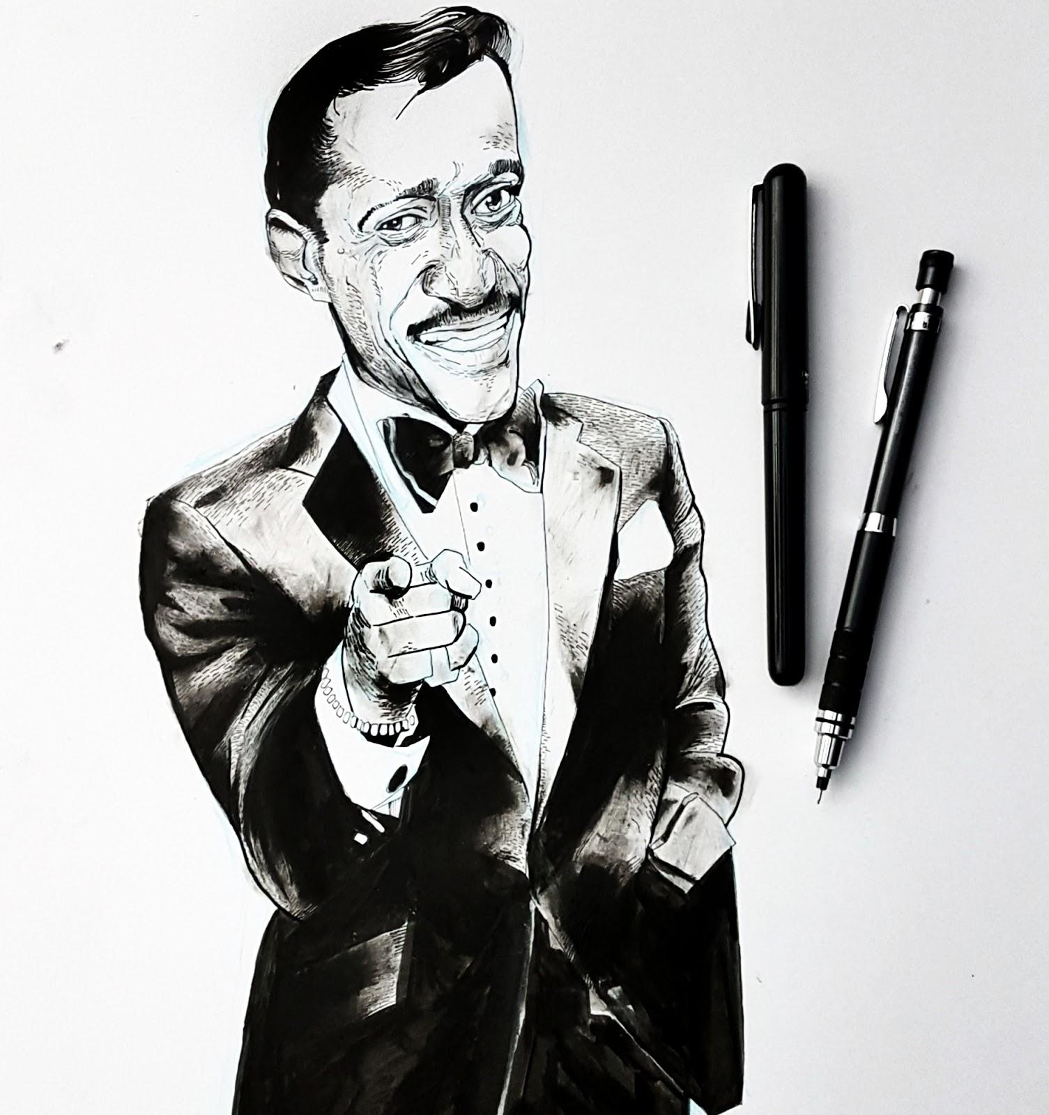 Sammy Davis Jr drawing
