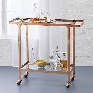 Copper bar cart