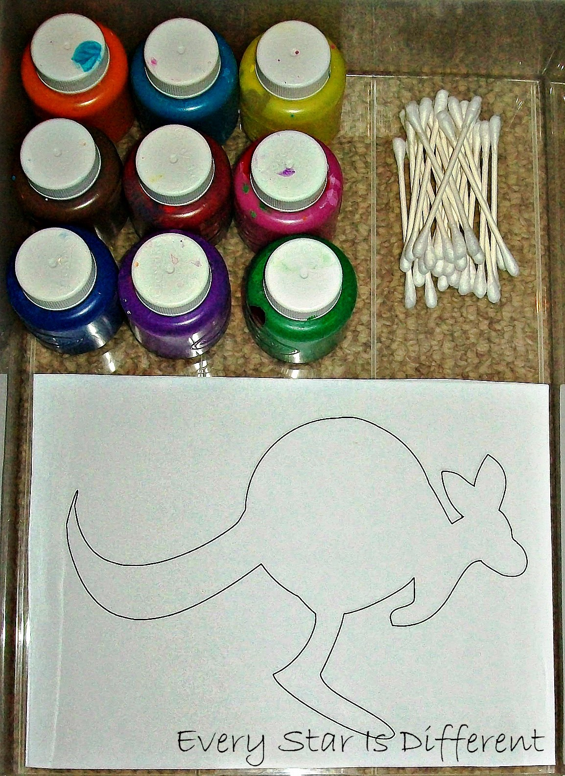 Australian Dot Painting Activity for kids