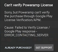 poweramp-failed-to-verify-license-error Fix Can't verify Poweramp License error on Android Android
