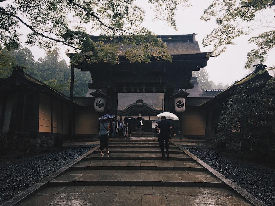 A rainy day at the temple in Koyasan Japan
