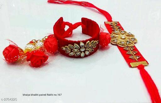 Fancy Thread & Flower Rakhis (Pack Of 2)