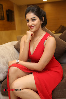 Actress Mouryani Stills in Red Dress at Intlo Deyyam Nakem Bhayam Trailer Launch  0183