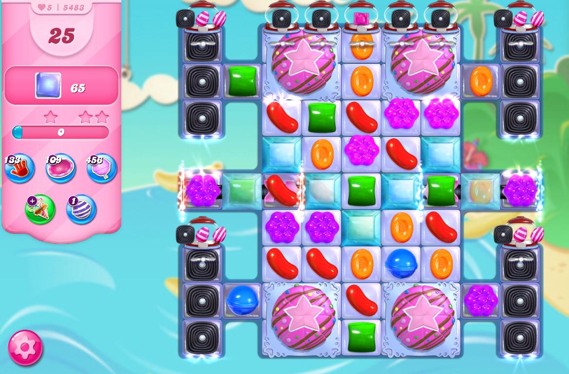 Candy Crush Saga level 5483