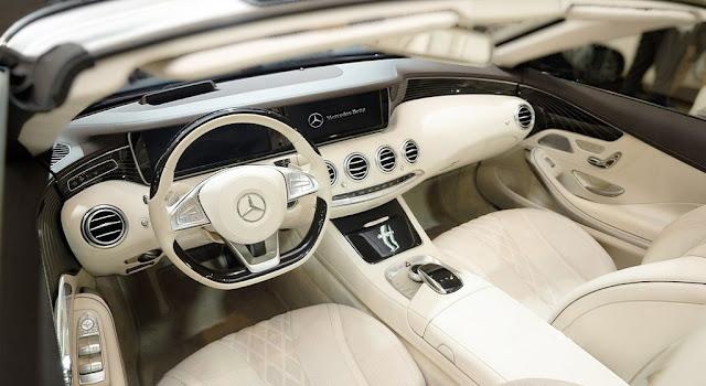 Không gian nội thất Mercedes S500 Cabriolet 2017 vô cùng sang trọng, đẳng cấp, quyến rũ