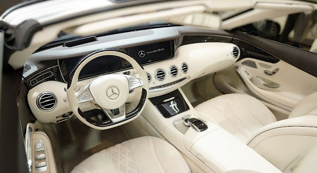Không gian nội thất Mercedes S500 Cabriolet 2018 vô cùng sang trọng, đẳng cấp, quyến rũ