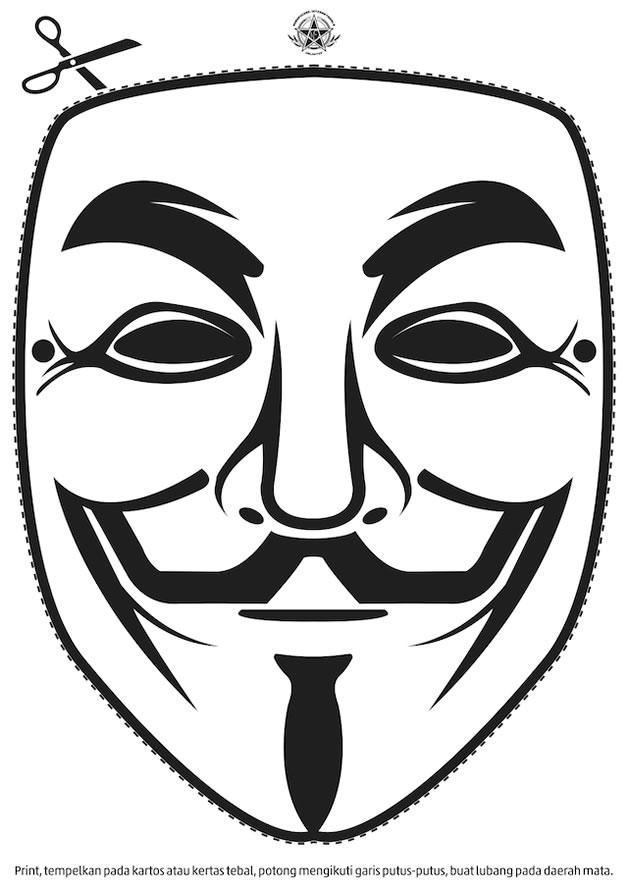 Imprime tu propia máscara de Anonymous