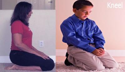 kneel position