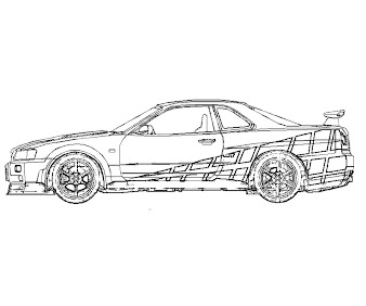 #8 Fast and Furious Coloring Page