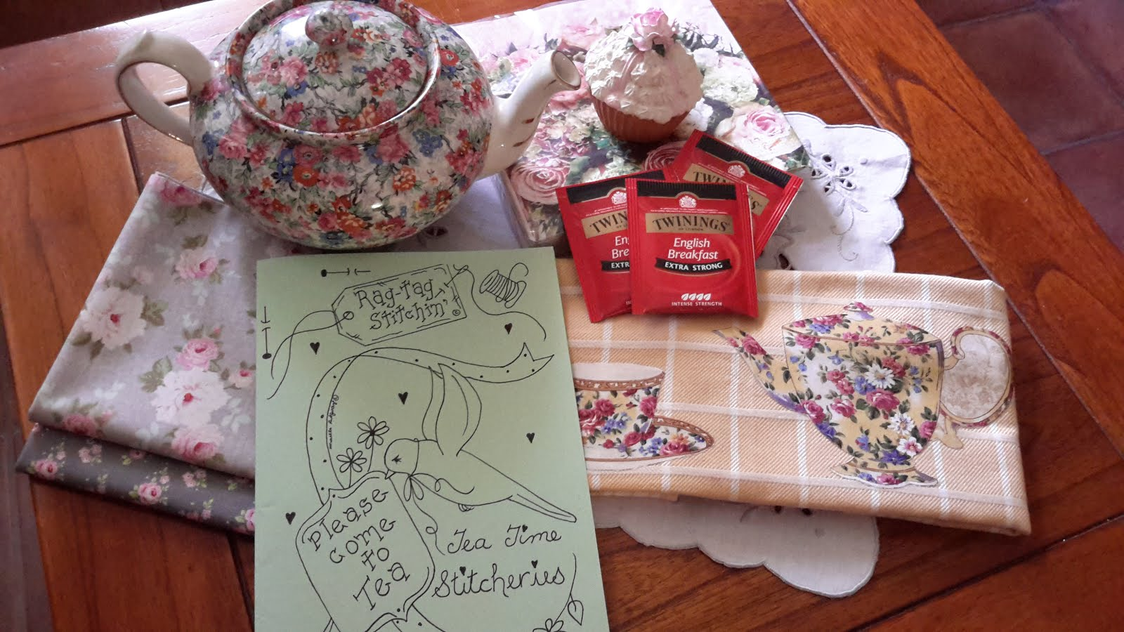 PLEASE COME TO TEA STITCHERY PATTERNS