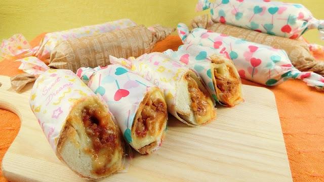 食パンとチリコンカンでお弁当レシピ!フライパンで焼くロールサンド