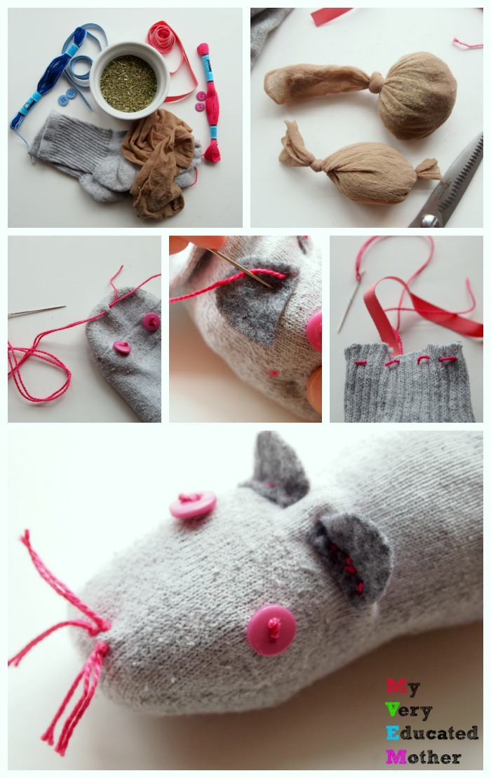A run through of how to make catnip filled sock toys for your feline friends! via @mvemother