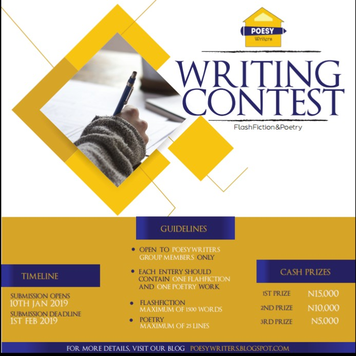 THE POESY WRITERS' WRITING CONTEST 2019   POESY WRITERS