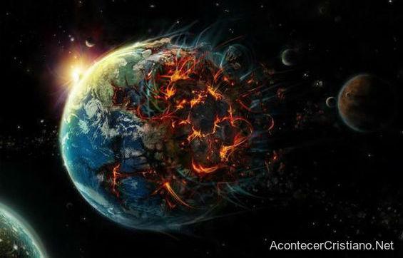Destrucción de la Tierra y de la humanidad
