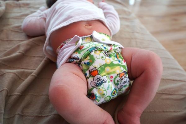 dopasowanie pieluszki wielorazowej mommy mouse na 6 kg noworodku