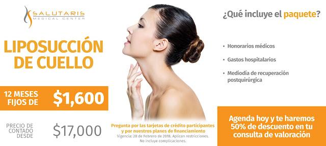 Liposuccion de Cuello Precio de Paquete de Lipoescultura en Guadalalajara