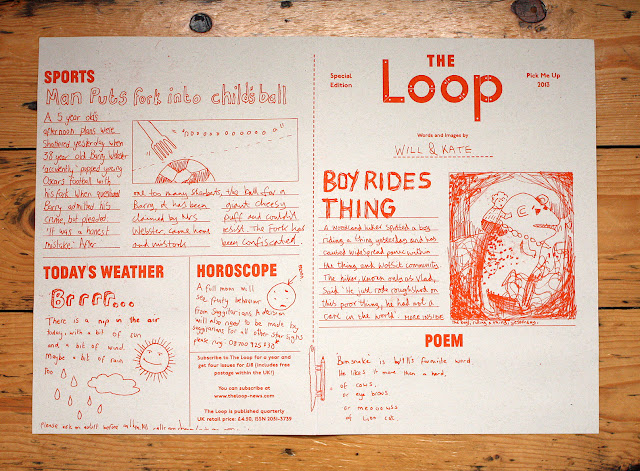 The Loop special edition, 2013 Pick Me Up, by Will Weaver and Kate Whiteman