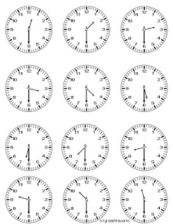 Clocks for WHAT TIME IS IT?