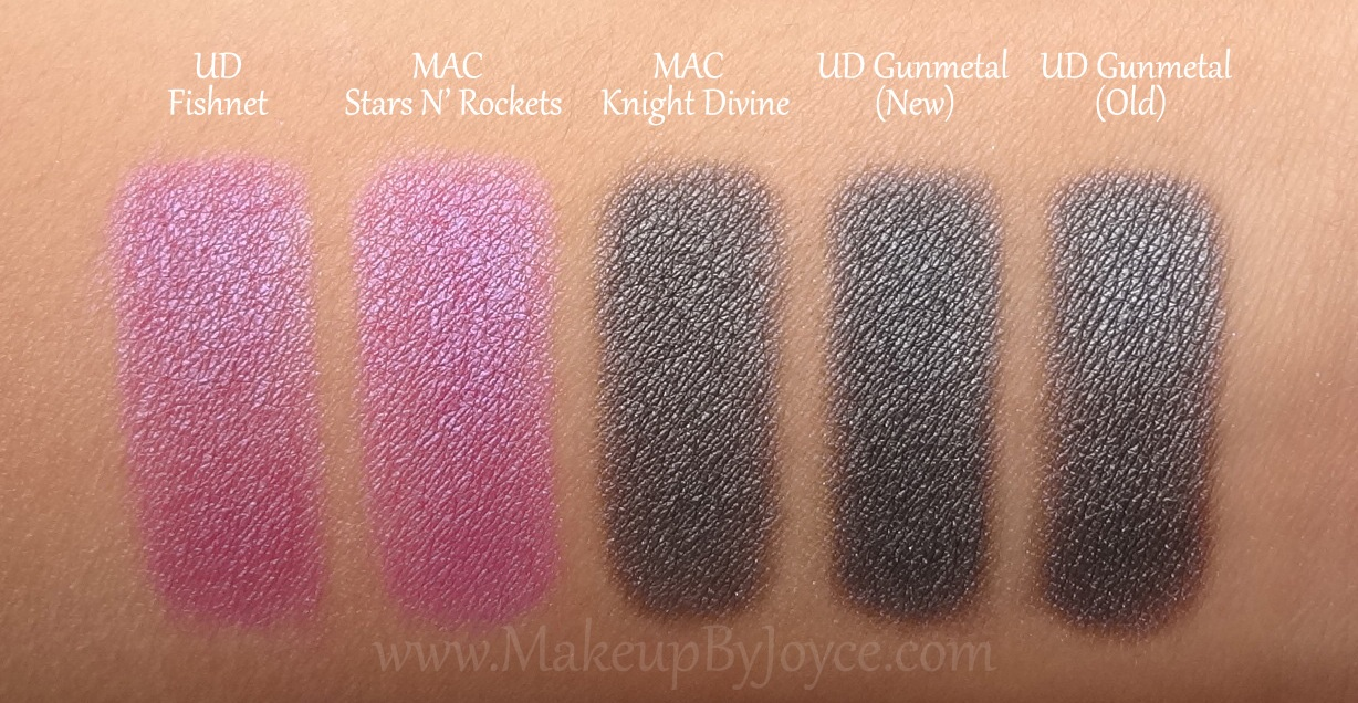 Makeupbyjoyce Swatches Comparison Urban Decay New