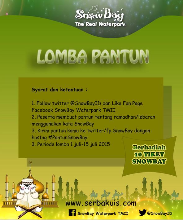 Kontes Pantun Ramadhan Berhadiah 10 Tiket SnowBay TMII