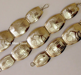 Alpaca silver bracelets, Nazca Lines