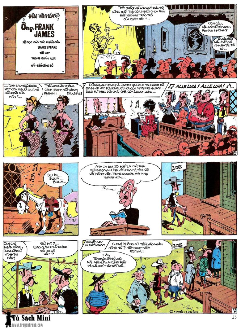 Lucky Luke tap 16 - jesse james hiep si rung xanh trang 27