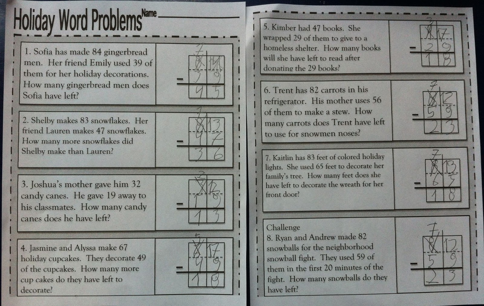 Fabiana Carter Subtraction With Regrouping