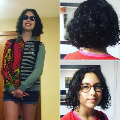 Alejandra, corte de pelo,
