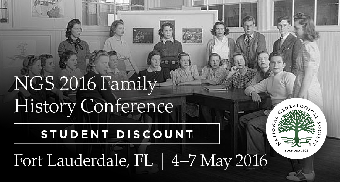 NGS Announces Student Discount Rate for 2016 Conference