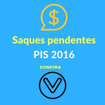 Saques pendentes PIS 2016