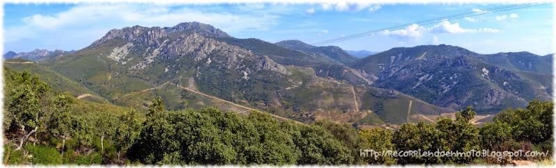 Panorámica Sierra de Guadalupe, Cañamero