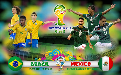 FIFA World Cup 2014 Group A Brazil vs Mexico HDTV 480p 400mb Full Match