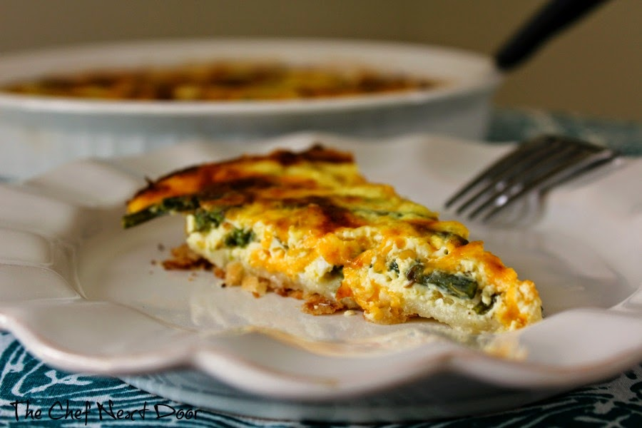 Asparagus and Cheddar Quiche | The Chef Next Door