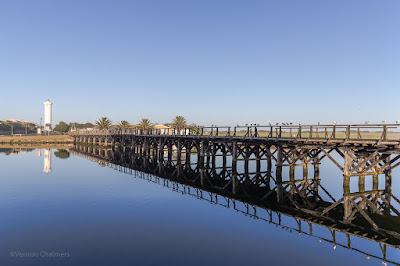 Copyright Vernon Chalmers: Wooden Bridge After Sunrise - Woodbridge Island Cape Town