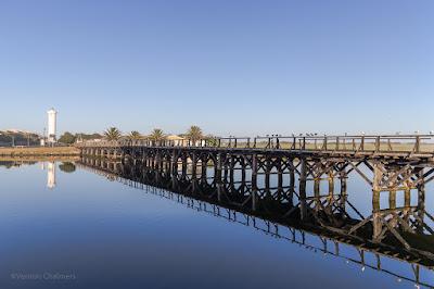 Copyright Vernon Chalmers: Wooden Bridge After Sunrise - Woodbridge Island Cape Town