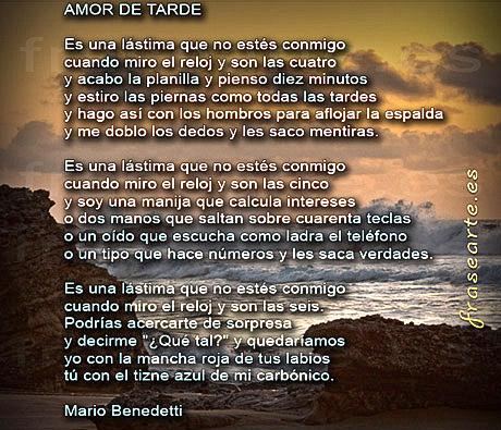 Versos de amor de Mario Benedetti