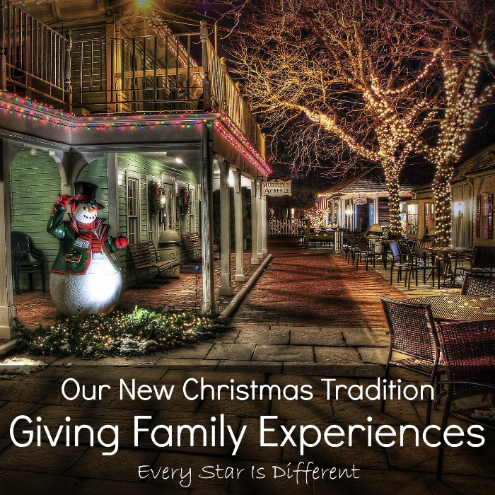 Giving Family Experiences, Our New Christmas Tradition