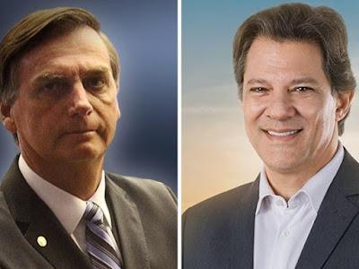 Intenção de voto: Bolsonaro cresce entre mais ricos e Haddad entre mais pobres, diz Ibope