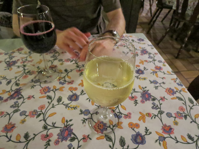 Glass of wine at a wine bar in Speyer, Germany