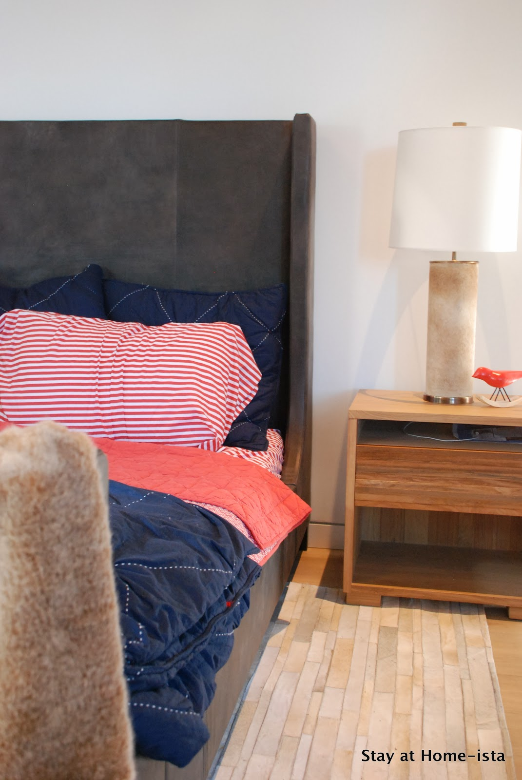 Stay At Home Ista A Hide Lamp And Walnut Dresser Modern